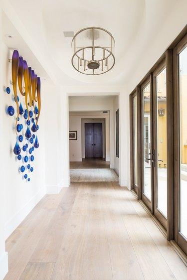 minimalist hallway lighting round pendant lighting