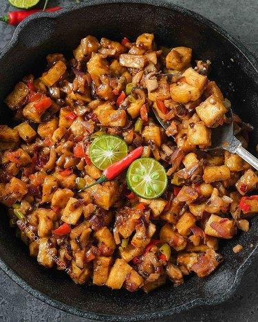 The Foodie Takes Flight Filipino Crispy Tofu Sisig