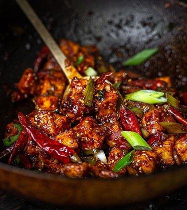 The Korean Vegan Spicy and Crunchy Garlic Tofu