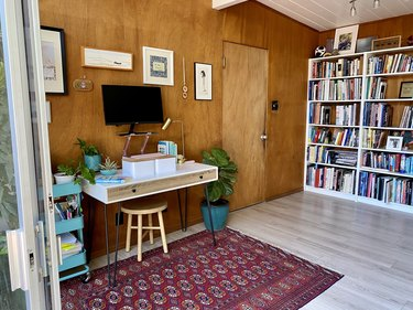 Mae Respicio's writing nook and library