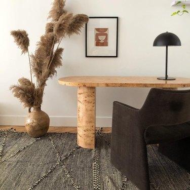 CB2 Marisa Burl Wood Desk