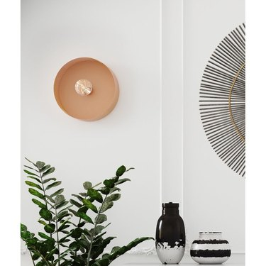 Overstock Mokhtar Blush Round Wall Sconce