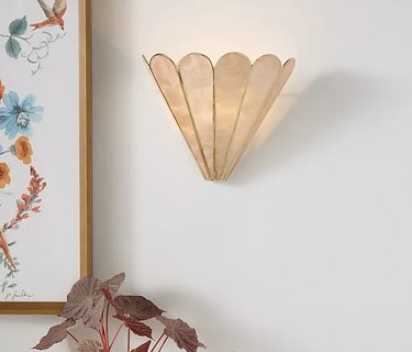 Anthropologie Madelyn Faceted Sconce