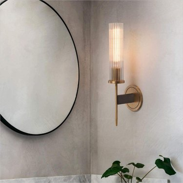 Amazon BOKT Bokt Midcentury Modern Wall Sconce Brass and Crystal