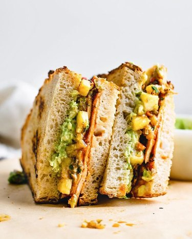 The Curious Chickpea Barbecue Tofu Sandwiches With Pineapple Relish