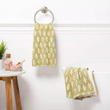 Threshold Flat Woven Hand Towel Set (2-pack)