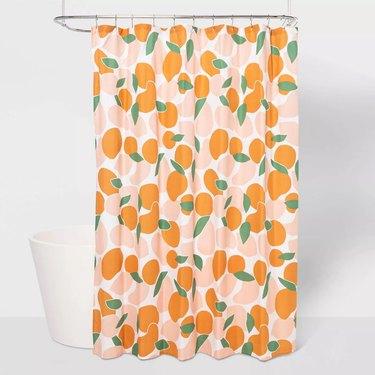 Room Essentials Microfiber Fruit Shower Curtain