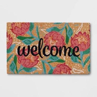 Opalhouse 'Welcome' Flower Doormat