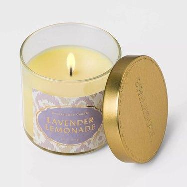 Opalhouse Lidded Glass Jar Lavender Lemonade Candle