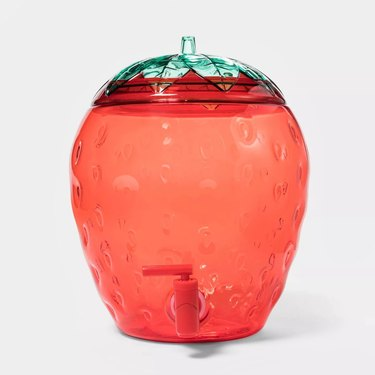 Sun Squad Strawberry Beverage Dispenser Red