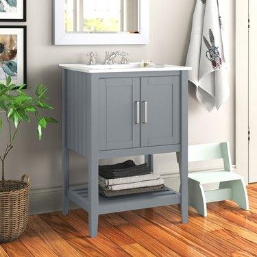 wayfair way day light gray bathroom vanity with drawers