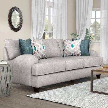 wayfair way day gray sofa