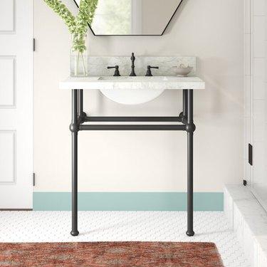 wayfair way day black brass and marble bathroom vanity