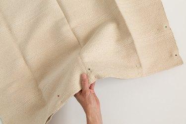 Pinning IKEA rug