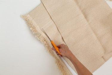 Cutting IKEA rug