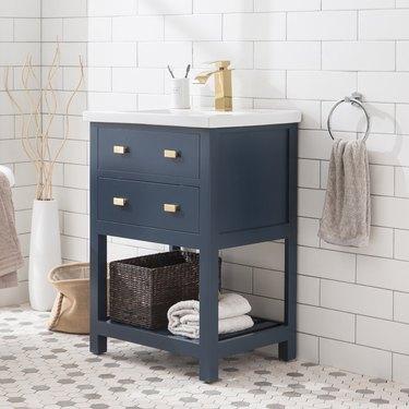 wayfair way day blue two-drawer bathroom vanity