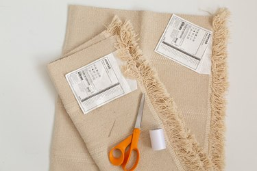 supplies for IKEA rug hack