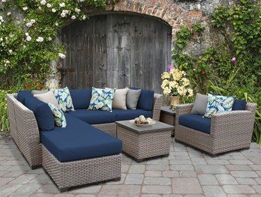 Sol 72 Merlyn 8-Piece Rattan Sectional Seating Group