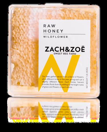 Zach & Zoe Sweet Bee Farm  wildflower honeycomb