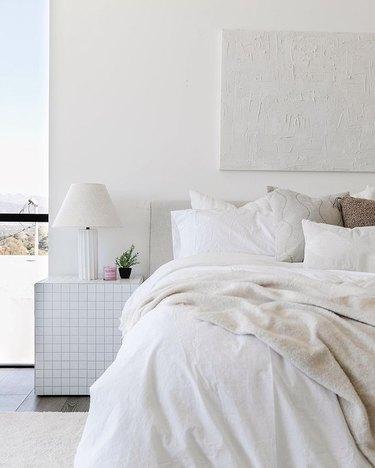 lonefox home tiled ikea hack nightstand