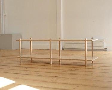 lichen minimalist wood console