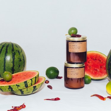 pf candle co watermelon chili candle with watermelons and limes