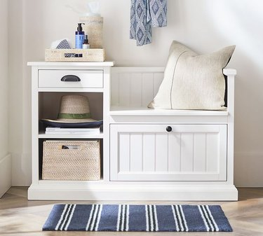 Small Entryway Storage Bench drawer