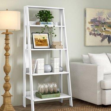 "Ebern Designs Haralda 55"" H x 24"" W Ladder Bookcase"