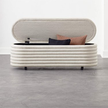 Small Entryway Storage Bench modern