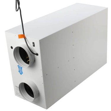 A white Energy Recovery Ventilation system