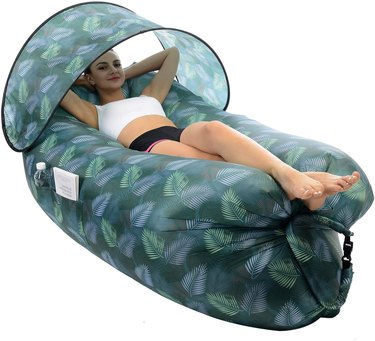 Amazon STEPIN Inflatable Lounger Air Sofa with Sunshade & Anti-Air Leaking Design