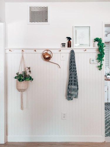 white beadboard feature hallway wall