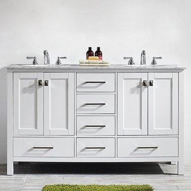 "Beachcrest Home Newtown 60"" Double Bathroom Vanity Set"