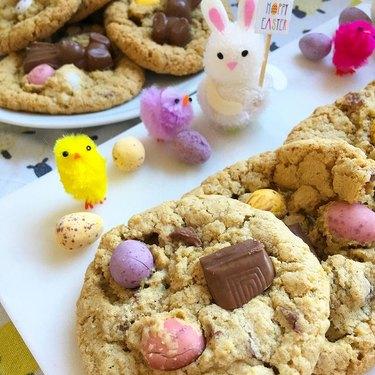 Something Sweet Something Savoury Leftover Easter Chocolate Cookies