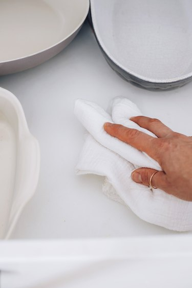 Clean crumbs from cabinets and drawers to avoid ants