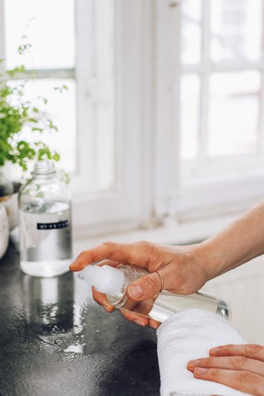 Use white vinegar to get rid of ants and other pests