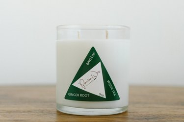 pontie wax Ginger Root, Bay Leaf, White Tea candle