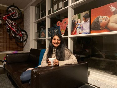 Mamta Patel Nagaraja of NASA in the playroom of her Maryland home