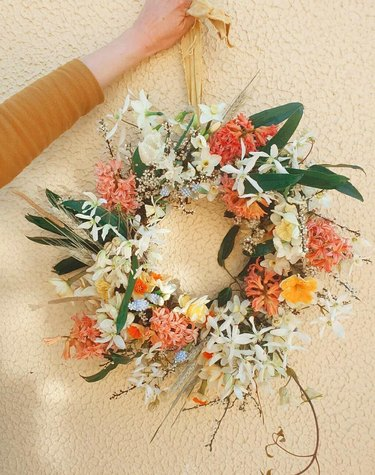orange and yellow spring wreath