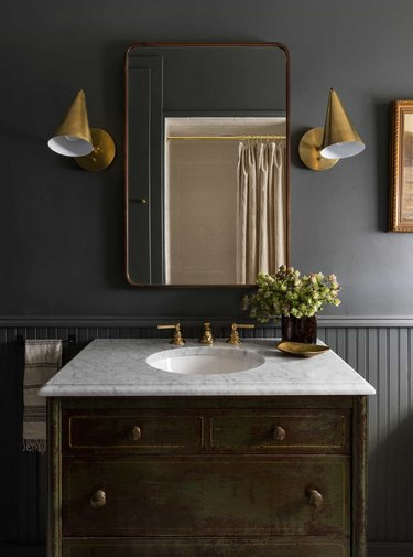 charcoal gray bathroom color idea