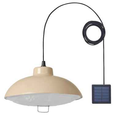 pendant lamp with cord and solar panel