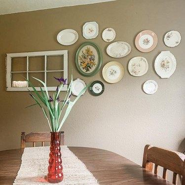 wall plates next to window piece