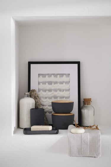 matte gray bathroom essentials