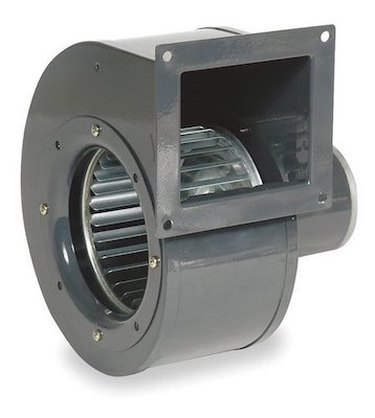 A close-up view of a blower motor part