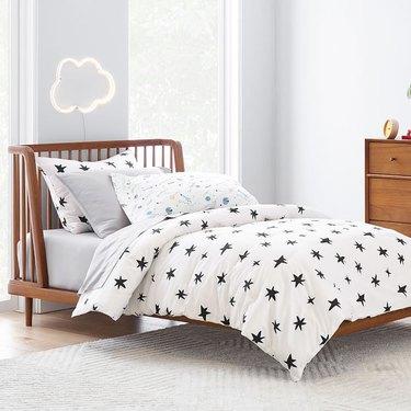wood headboard kids bed