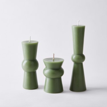 GreenTree Home Hand Poured Beeswax Pillar Candles