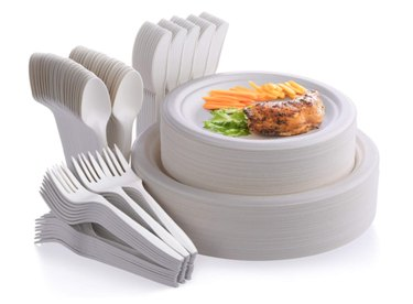 Disposable plates and utensils