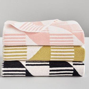 geometric pattern baby blankets