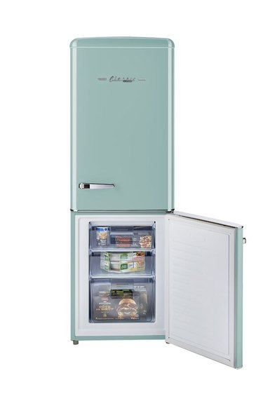 Retro Bottom Freezer Refrigerator