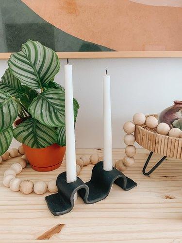 Black DIY candleholder